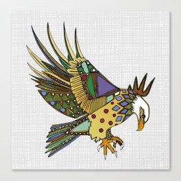jewel eagle white Canvas Print