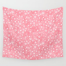 Roses Heart Pattern 01 Wall Tapestry