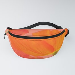 Beautiful Poppies Coral Color Background #decor #society6 #buyart Fanny Pack