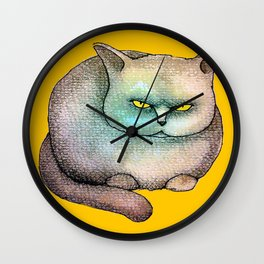 Disdainful Cat Wall Clock