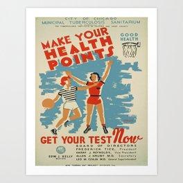 Vintage poster - Make Your Health Points Kunstdrucke