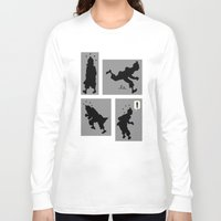 tintin Long Sleeve T-shirts featuring Tintin, Silhouetted by Faellen