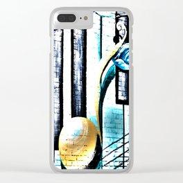 Deep Ellum Music Note Mural - Surreal Clear iPhone Case