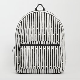 Distressed Hand Drawn Stripe Pattern Backpack