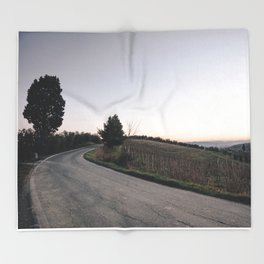 Countryside in tuscany at dusk Throw Blanket