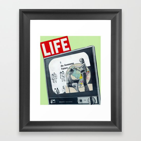 OUR AWESOME FUTURE Framed Art Print