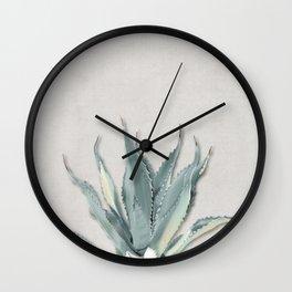 Green Agave 01 Wall Clock