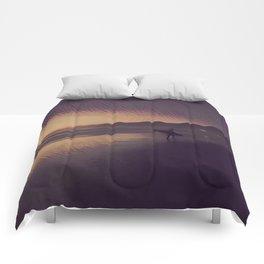 Sunset Surfer Comforters