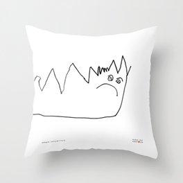 [angry caterpillar] - nadya 3 yr Throw Pillow
