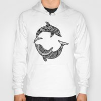 dolphins Hoodies featuring Dolphins by Emma Barker