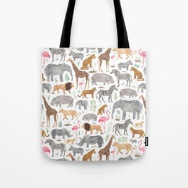 Safari Animals Tote Bag