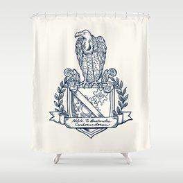 Nolite Te Bastardes Carborundorum_Crest Shower Curtain