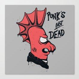 Punk's not dead Canvas Print