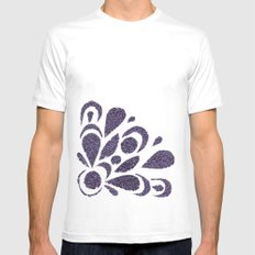 morado MEDIUM White Mens Fitted Tee