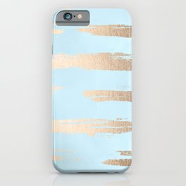 Abstract Paint Stripes Gold Tropical Ocean Sea Turquoise iPhone Case