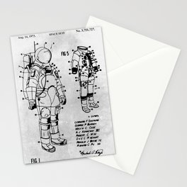 Space Suit Stationery Cards