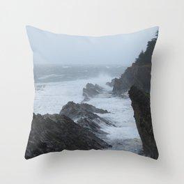 Shore Acres near Coos Bay, Oregon Throw Pillow