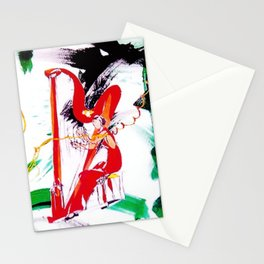 The Harpist            by Kay Lipton Stationery Cards