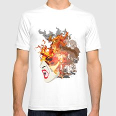 Fire- from World Elements Series Mens Fitted Tee MEDIUM White