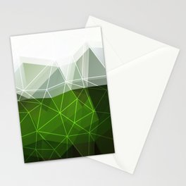 Green abstract background Stationery Cards