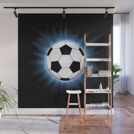 Spacey Soccer Ball Wall Mural