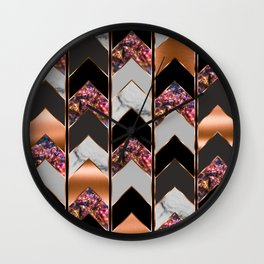 Chevron Peacock Wall Clock