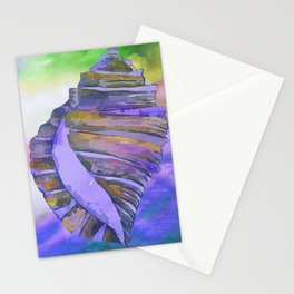 NAUTILUS CONCH SEA SHELL PURPLE IMPRESSIONS Stationery Cards