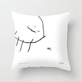 [spider with food] - nadya 3 yr Throw Pillow