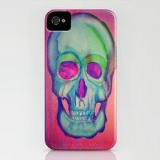 Watercolor skull/Blue iPhone (4, 4s) Slim Case