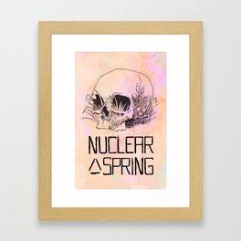 Nuclear Spring Framed Art Print