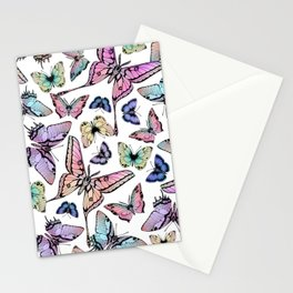 Ombre Rainbow Butterflies Stationery Cards