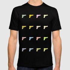 Guns Black MEDIUM Mens Fitted Tee