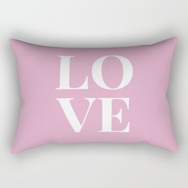 LOVE - pink Rectangular Pillow
