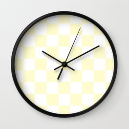 Checker (Cream/White) Wall Clock
