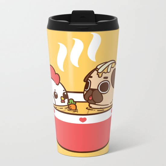 Chicken Noodle Puglie Soup Metal Travel Mug