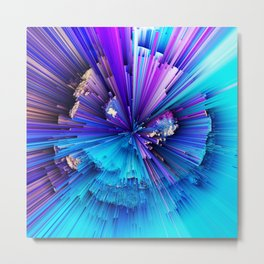 Interference - Abstract Art Metal Print