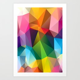Geometric view Art Print