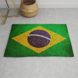 Cracked Brazil flag Rug