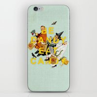 eat iPhone & iPod Skins featuring Be Dandy Eat Candy by Heather Landis