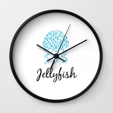 Jellyfish White Wall Clock