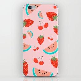 Fruit Salad (Pastel Pink) iPhone Skin