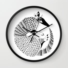 Possum on the Half Shell (Armadillo) Wall Clock