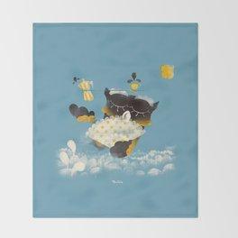 Corujitear (to owl) - Rodrigo Troitiño Throw Blanket