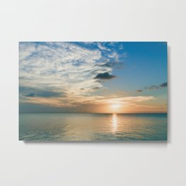 Sunset over Belize Metal Print