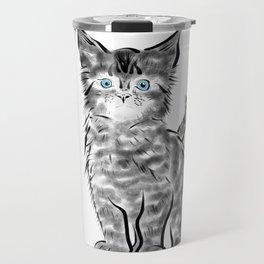 Scruffy Maine Coon Kitten Travel Mug