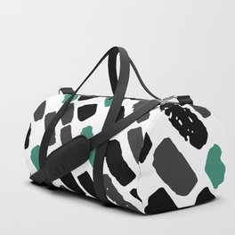 Oblique dots black and white green Duffle Bag