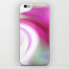 pink and teal spiral. iPhone & iPod Skin