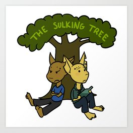 The Sulking Tree Art Print