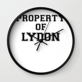 Property of LYDON Wall Clock