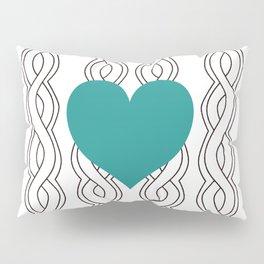 Hearts Woven 01 Pillow Sham